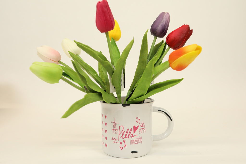 Mini Pink Tulip - Single Stem 10""
