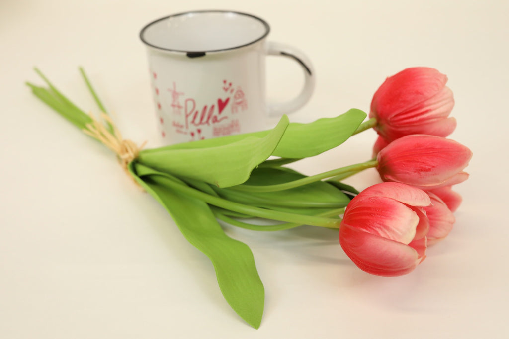 Tulip Bouquet - Mixed Pink 18""