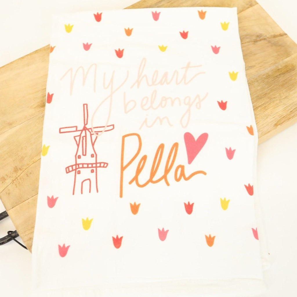 My Heart Belongs in Pella Flour Sack Towel