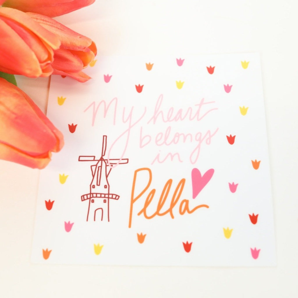 My Heart Belongs in Pella - Sticker