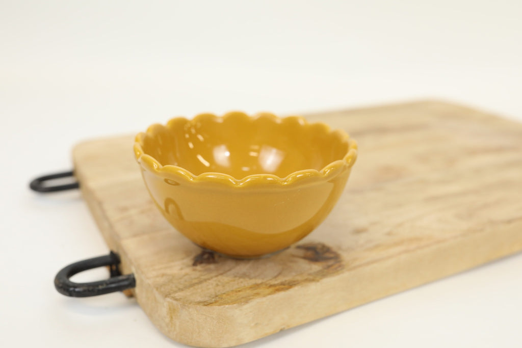Mustard Scalloped Bowl - Folk Collection