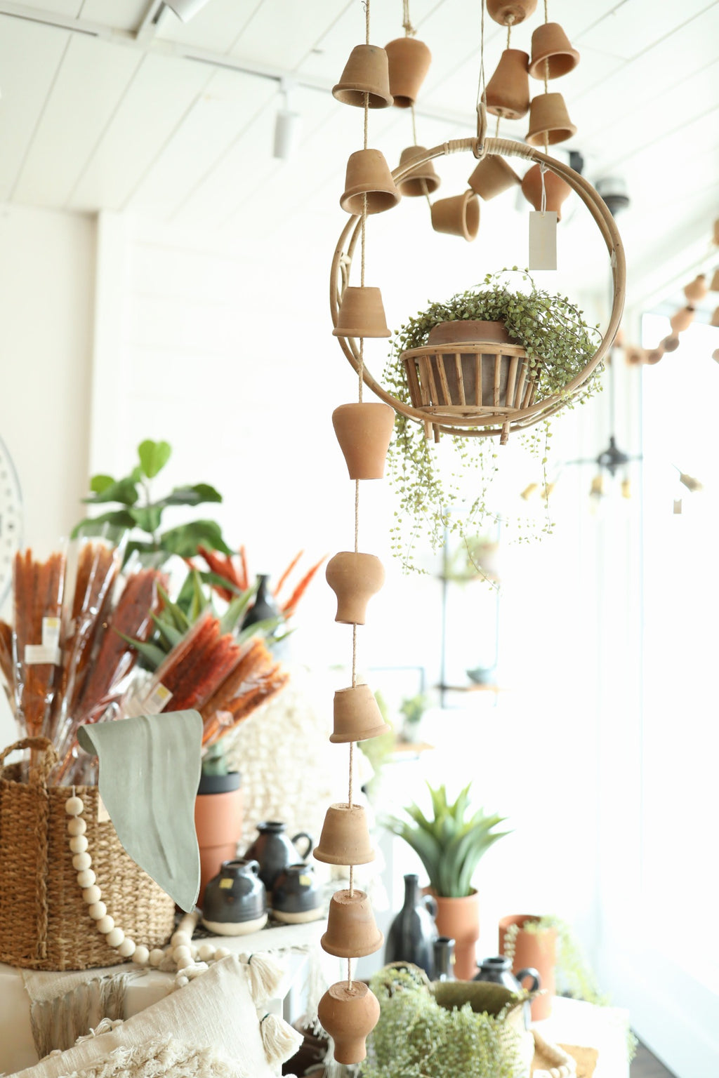 Hanging Clay Pots
