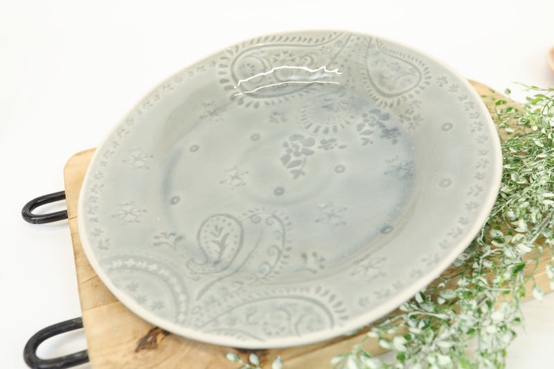 Glazed Stoneware Plate - Western Collection