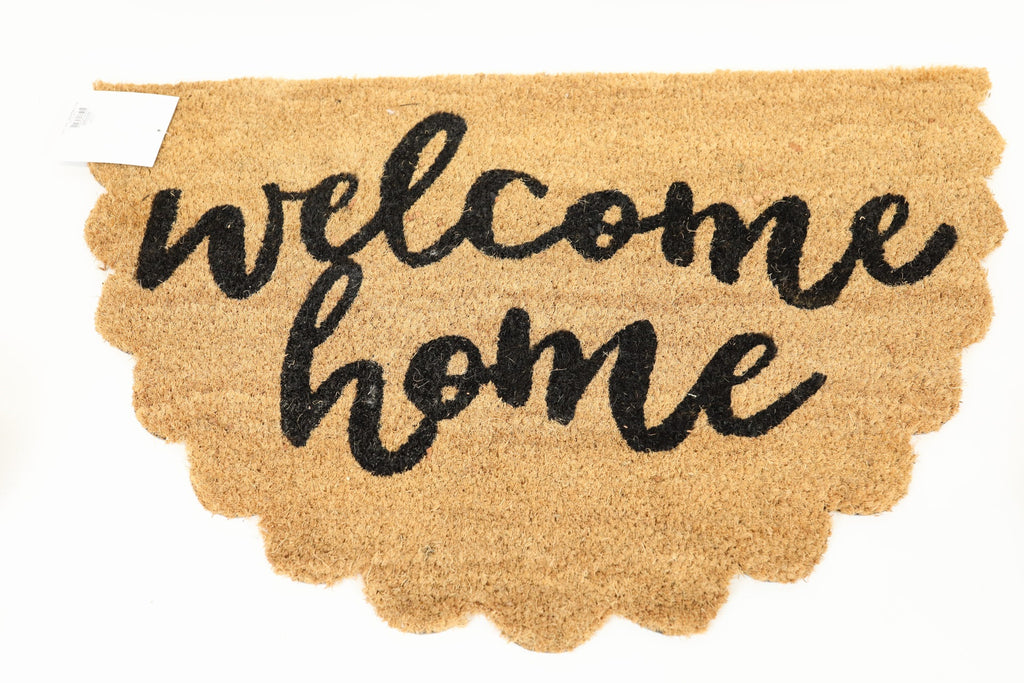 "Scalloped Doormat - ""Welcome Home"""