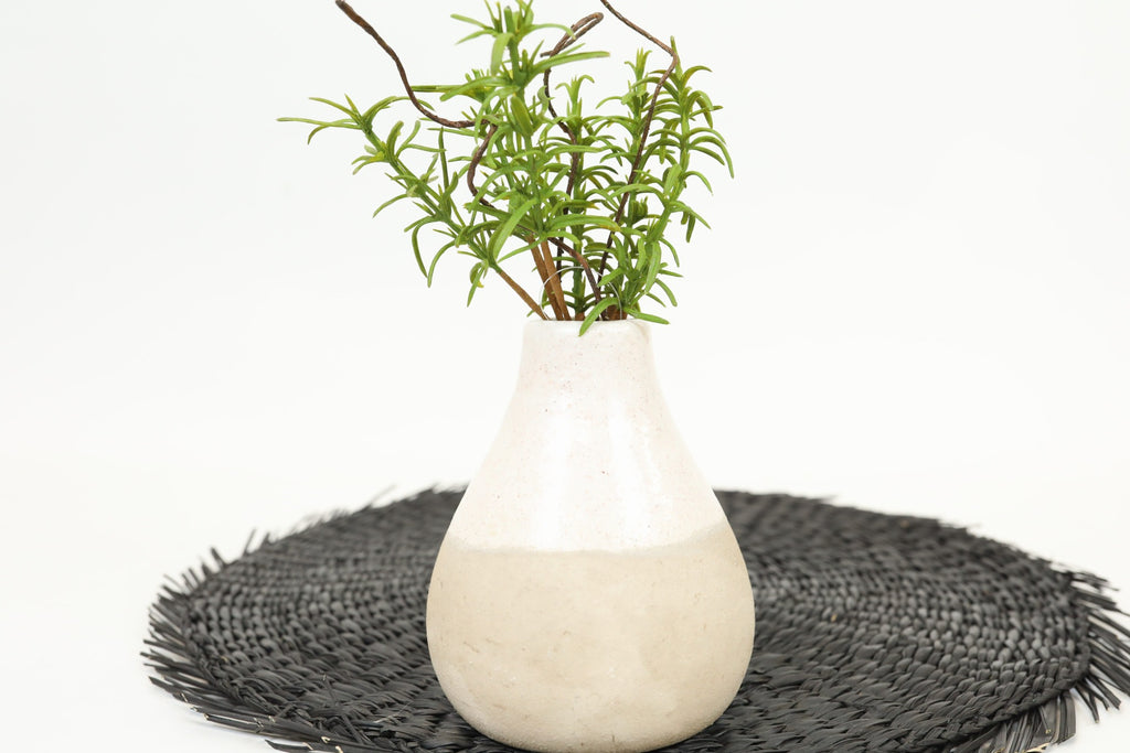 Artisan Clay Bud Vase - Small