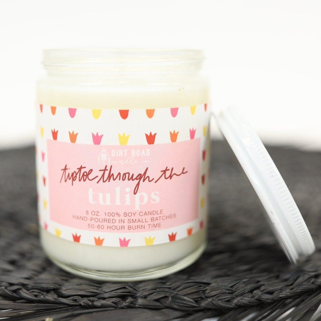Tiptoe Through the Tulips - Custom Candle