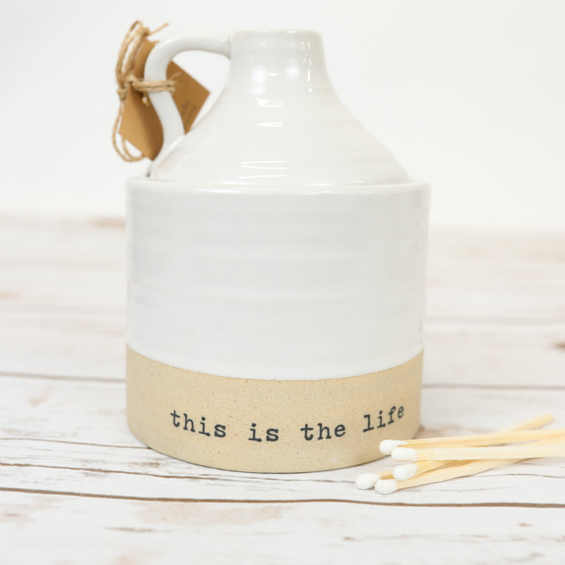 This is the Life - Stoneware Candle