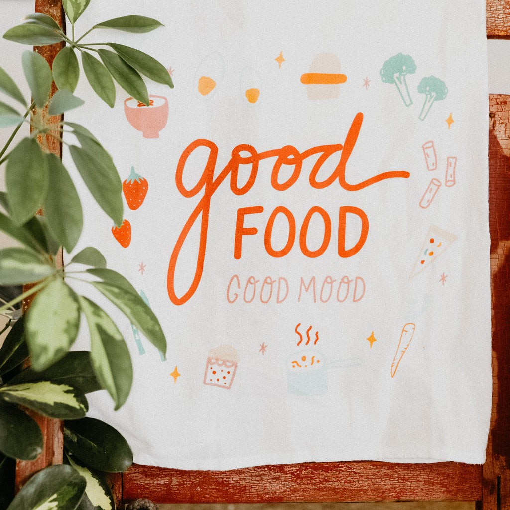Good Food Good Mood Towel