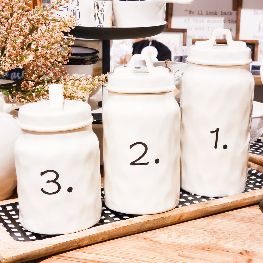 Ceramic Canisters - Set of 3
