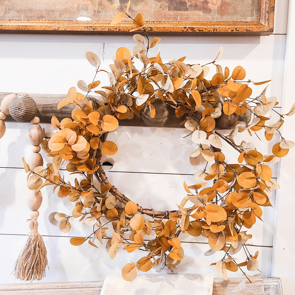 Burnt Orange Eucalyptus Wreath
