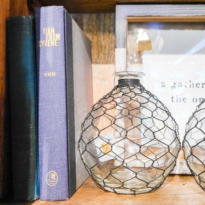 Chicken Wire Wrapped Bubble Vase