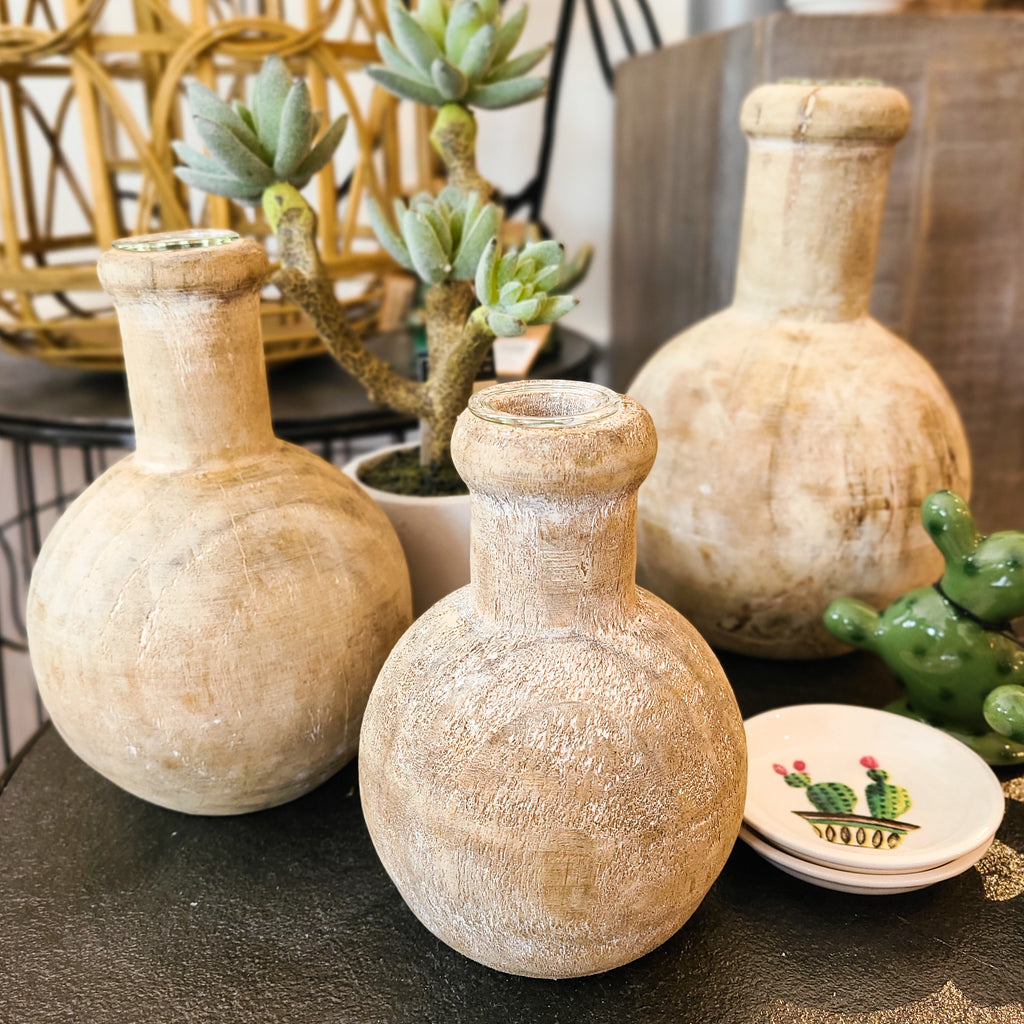 Pinewood Bud Vases - 3 Sizes