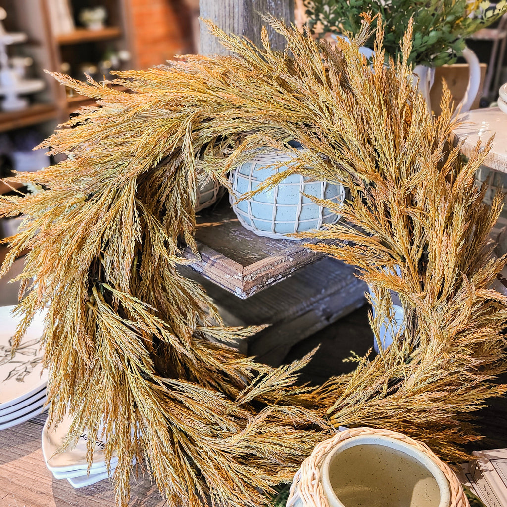 Natural Wheat Wreath