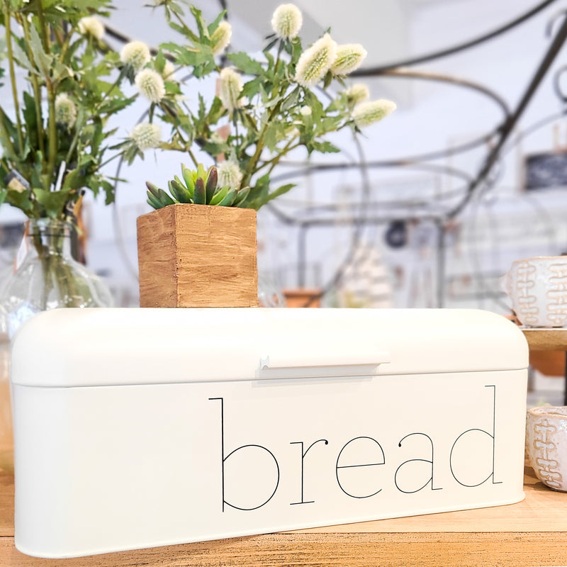 Metal White Bread Box