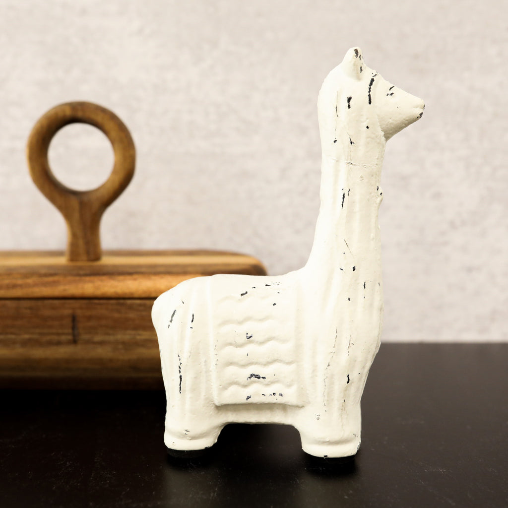 White Cast Iron Llama - Small