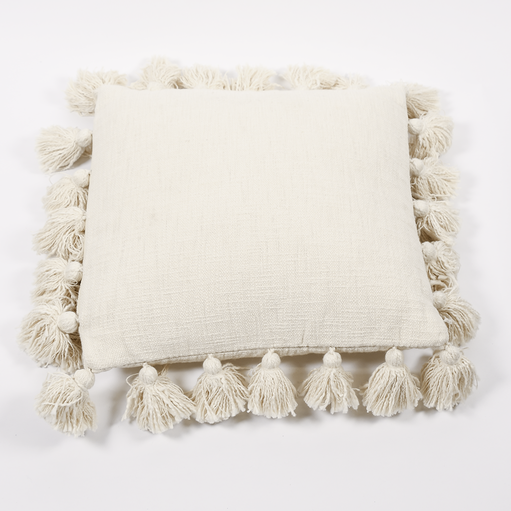 Tassel Pillow - Cream