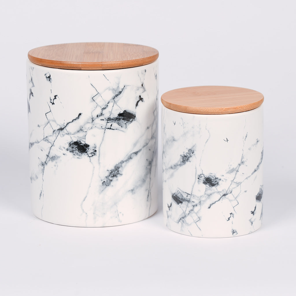Ceramic Marble Canister - 2 Sizes