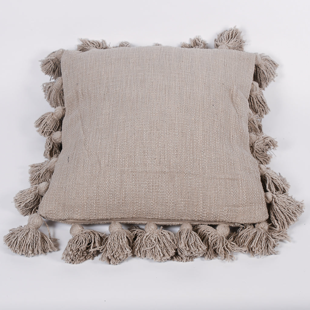 Tassel Pillow - Gray