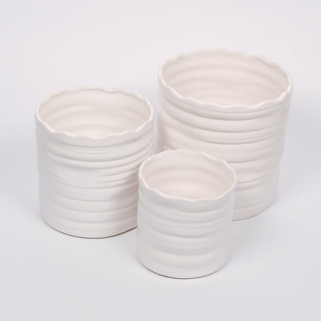 Striped Flower Pot - 3 Sizes