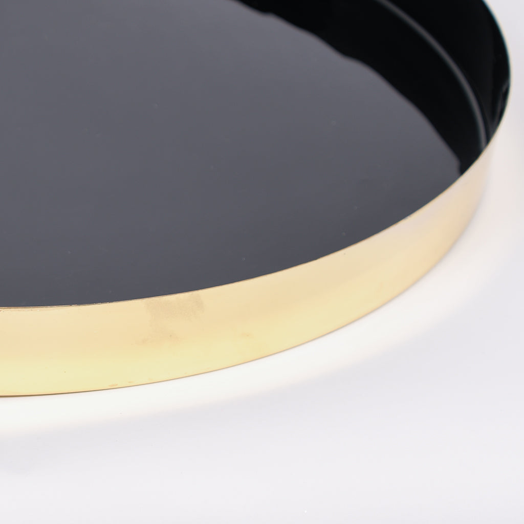 Black & Gold Aluminum Tray