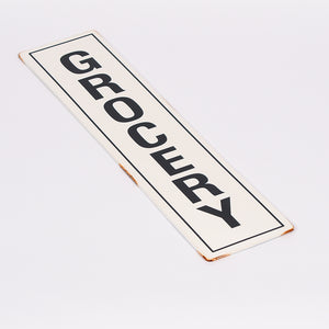 """Grocery"" Enamel Sign"