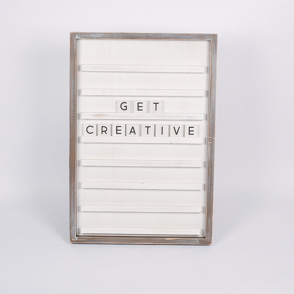 "Ledge Letter Board in White - 18"" x 24"""