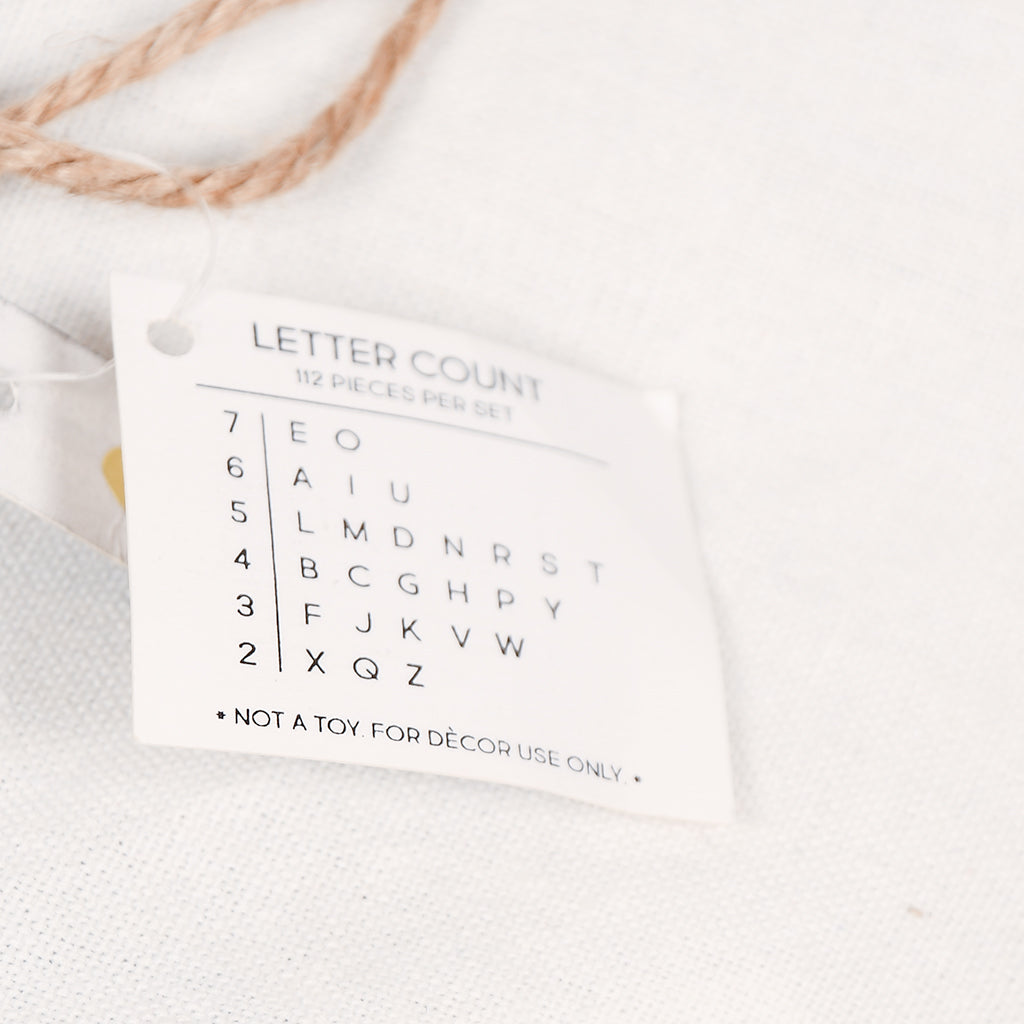 110 Piece Letter Bag - White
