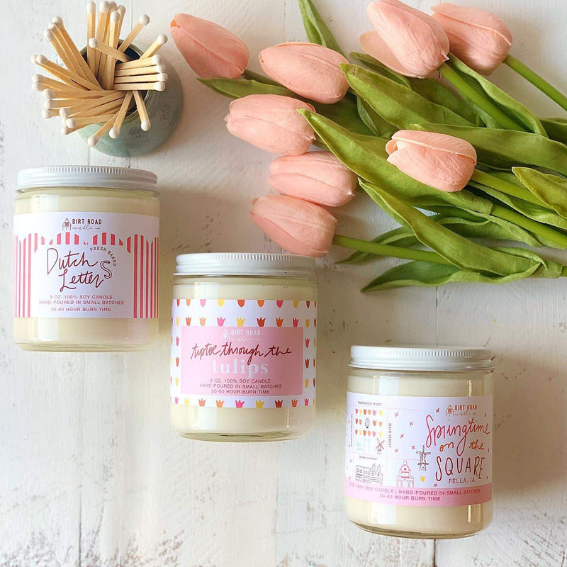 Springtime On the Square - Custom Candle