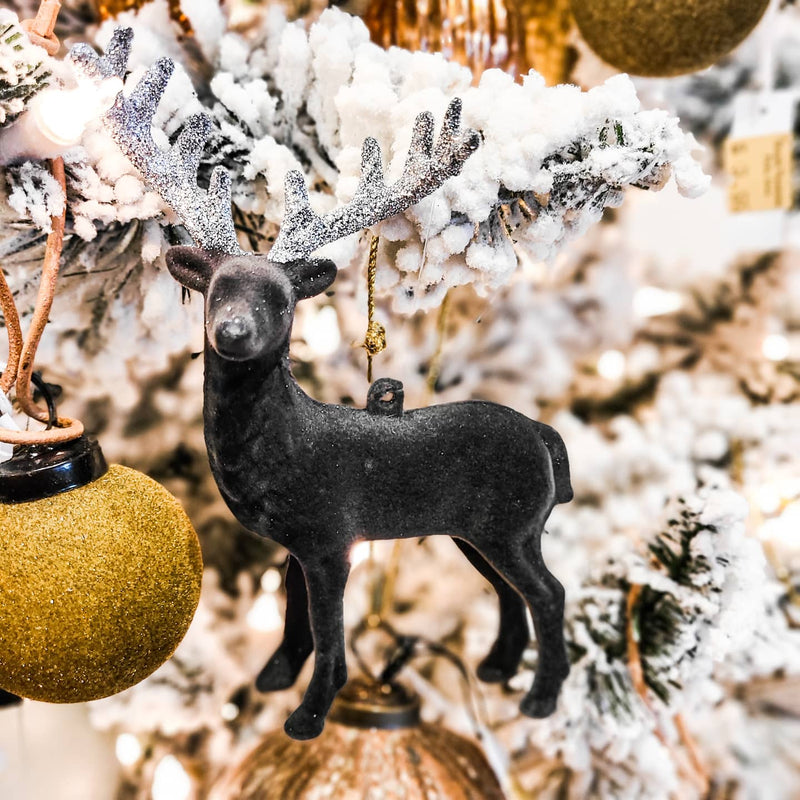 Glittered Mini Deer Ornament
