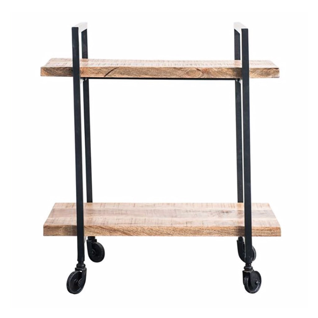 Mango Wood & Metal Bar Cart