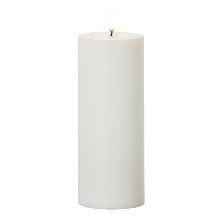 Faux Flame Pillar Candle - Large