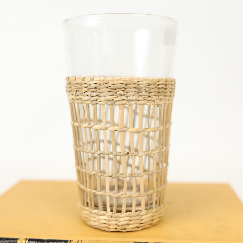 Cane Wrapped Drinking Glass