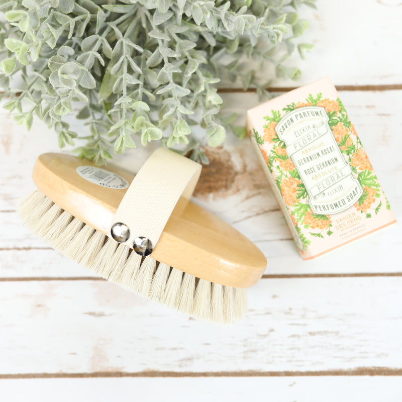 Natural Bristle Shower Scrub Brush