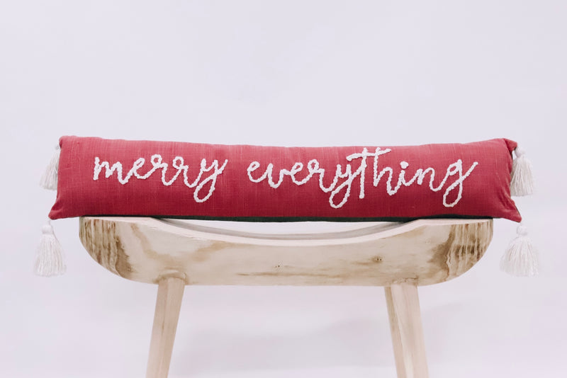 Merry Everything Long Pillow
