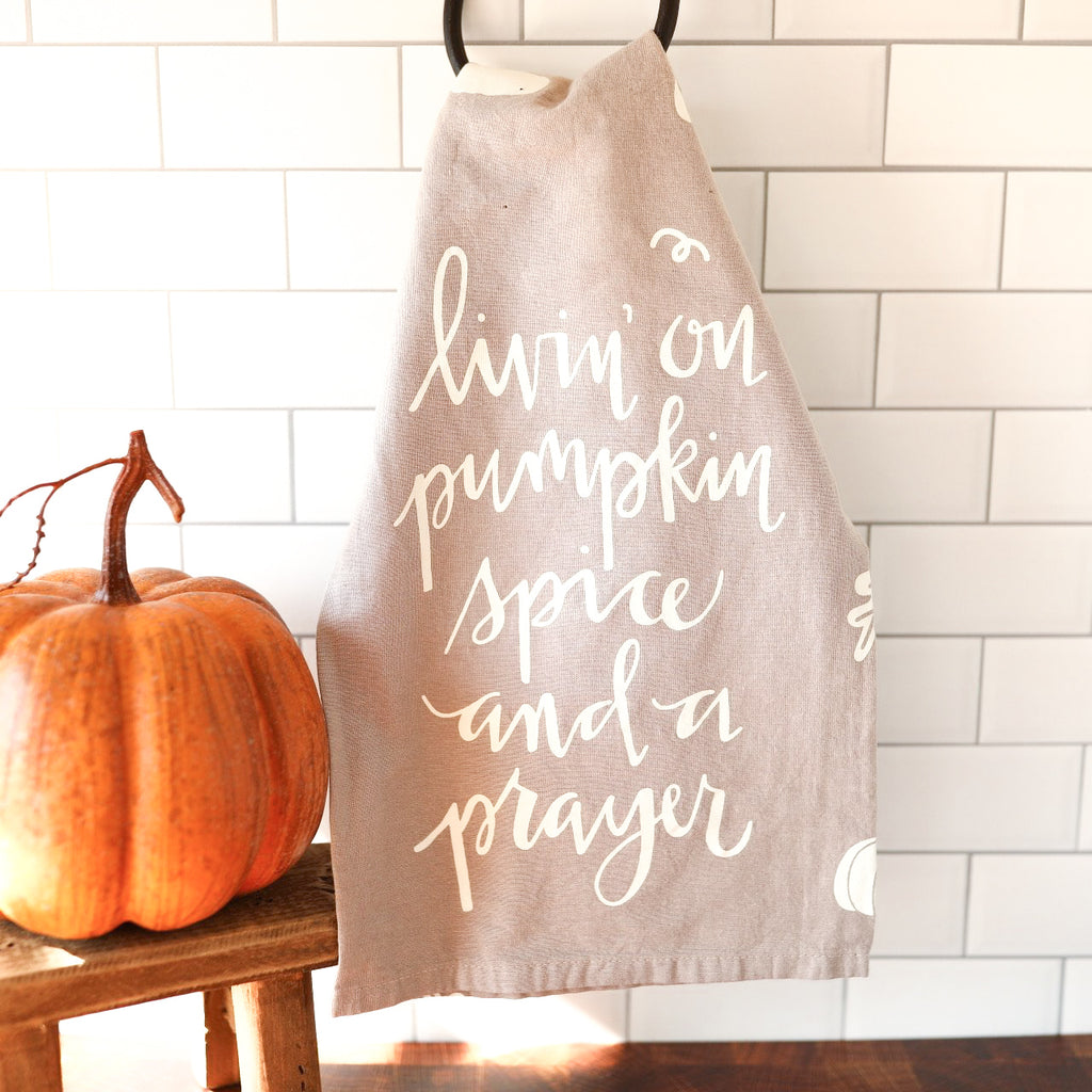 Living on Pumpkin Spice Towel