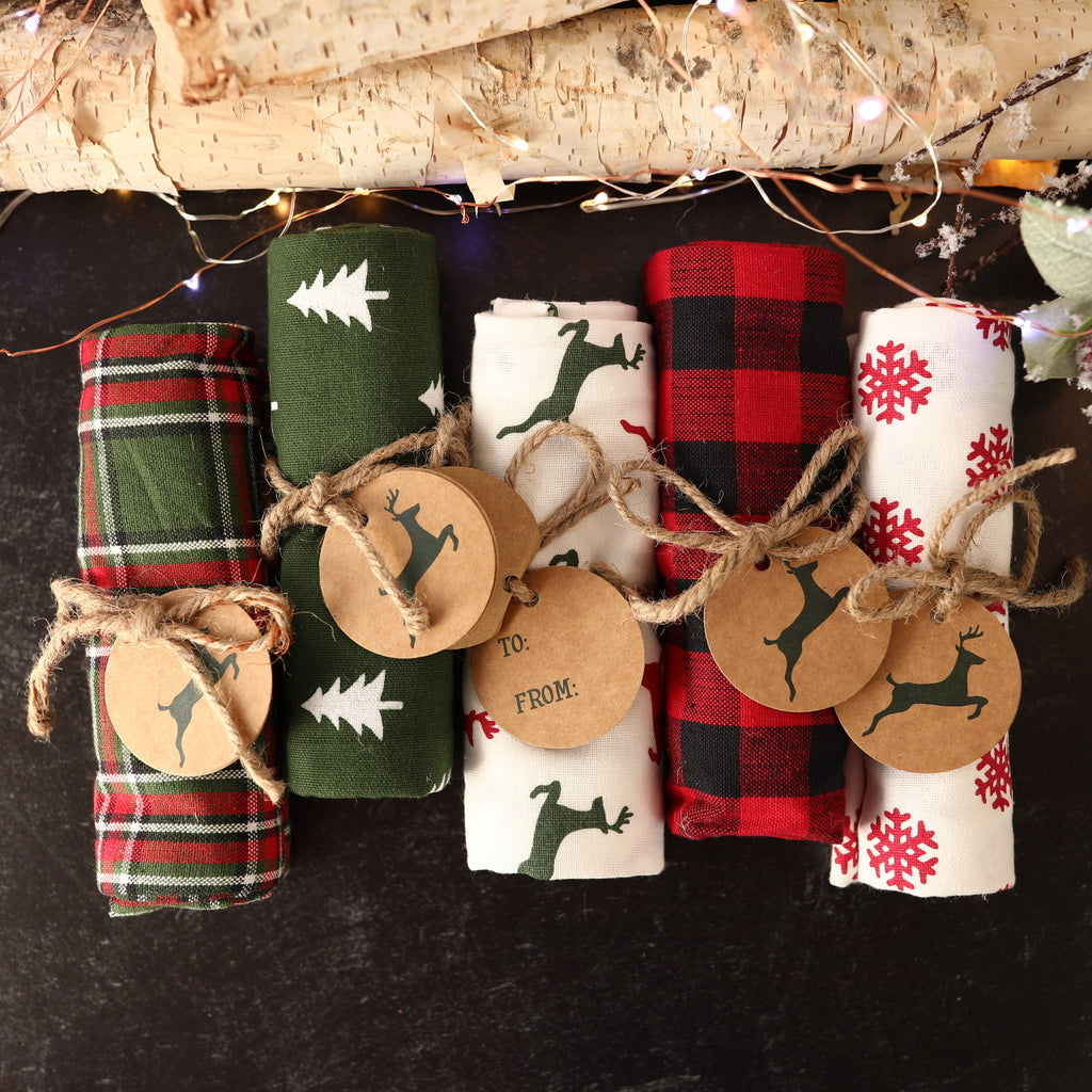 Assorted Christmas Dish Towels