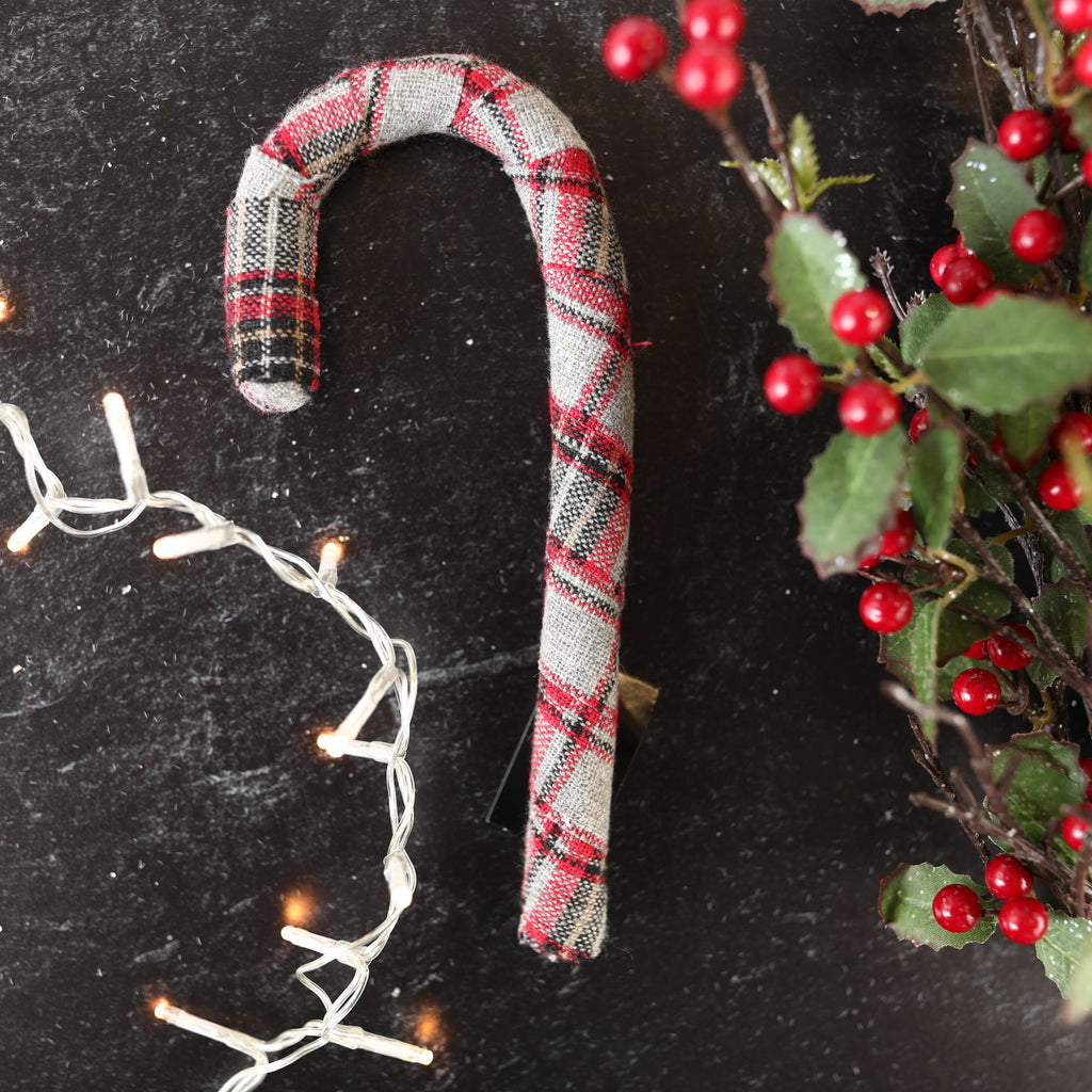 Plaid Candy Cane - 3 sizes