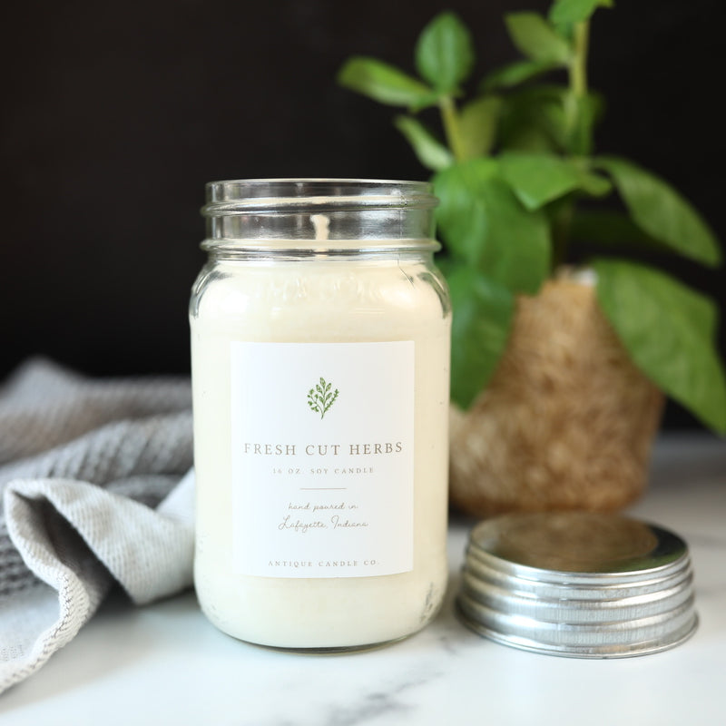Fresh Cut Herbs - 16 oz Candle