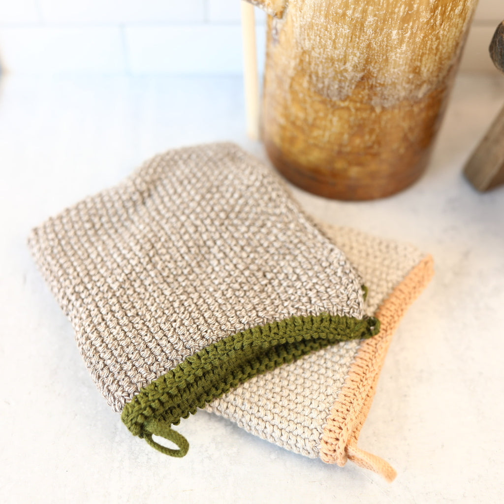 Knit Dish Cloth - Set of 2