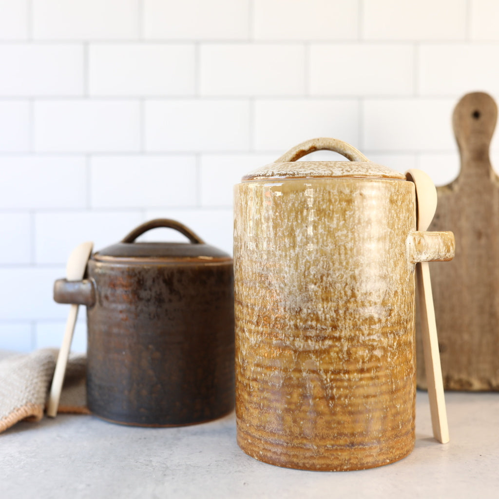 Canister with Wooden Spoon