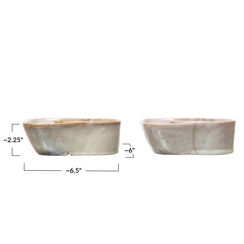 Glazed Dish With Bowl