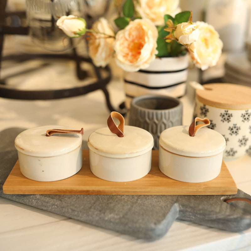 Stoneware Pinch Pots - Set of 3