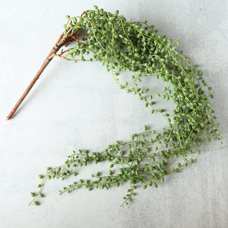 "Faux String of Pearls Greenery - 41"" Long"