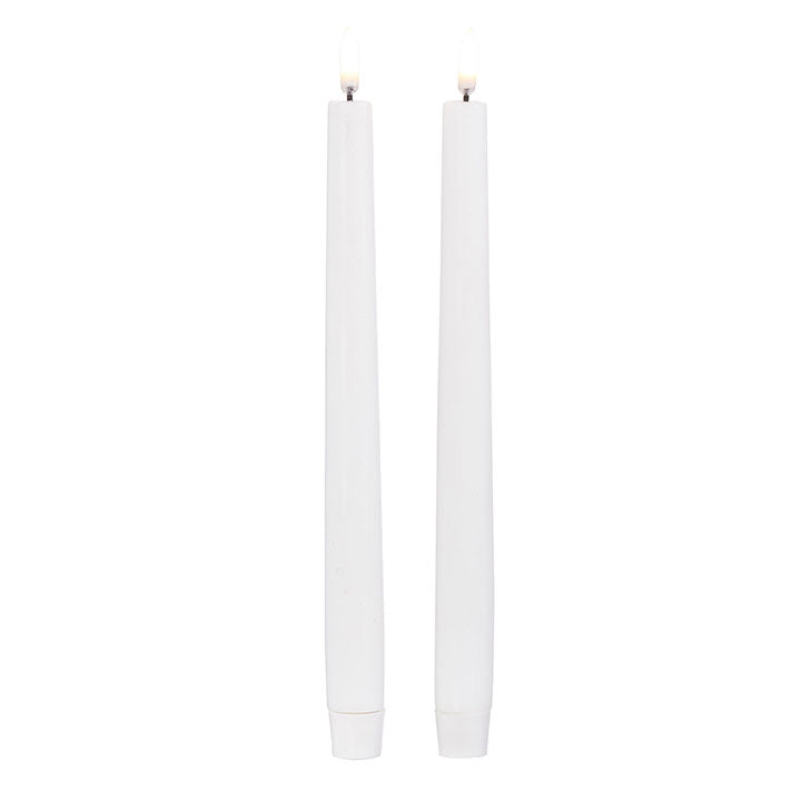 Faux Flame Taper Candles - Set of 2