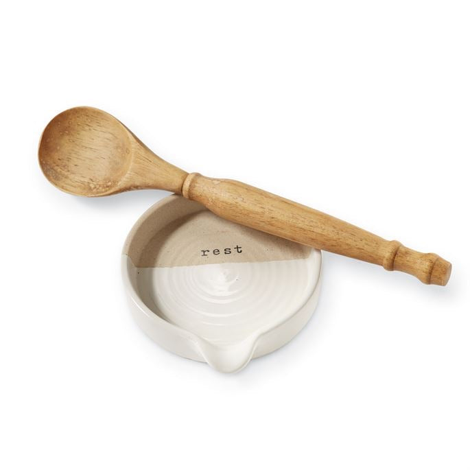 Stoneware Spoon Rest Set