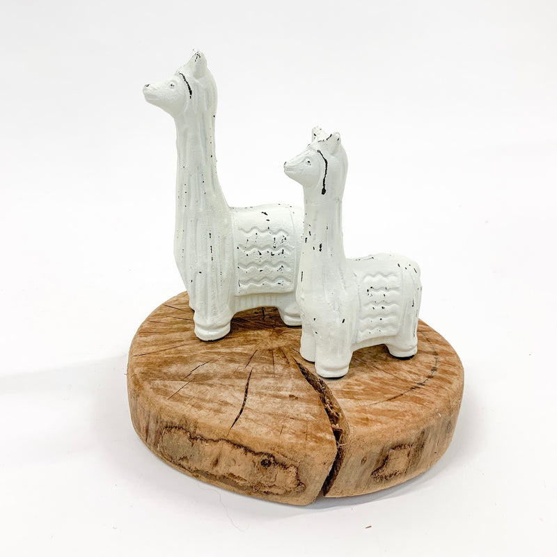 White Cast Iron Llama - Large