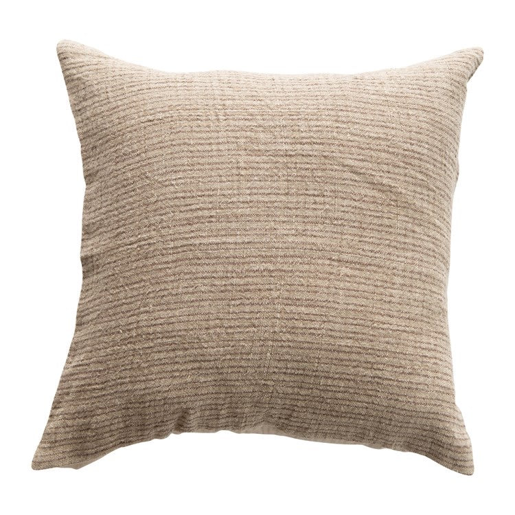 Woven Pillow - Brown