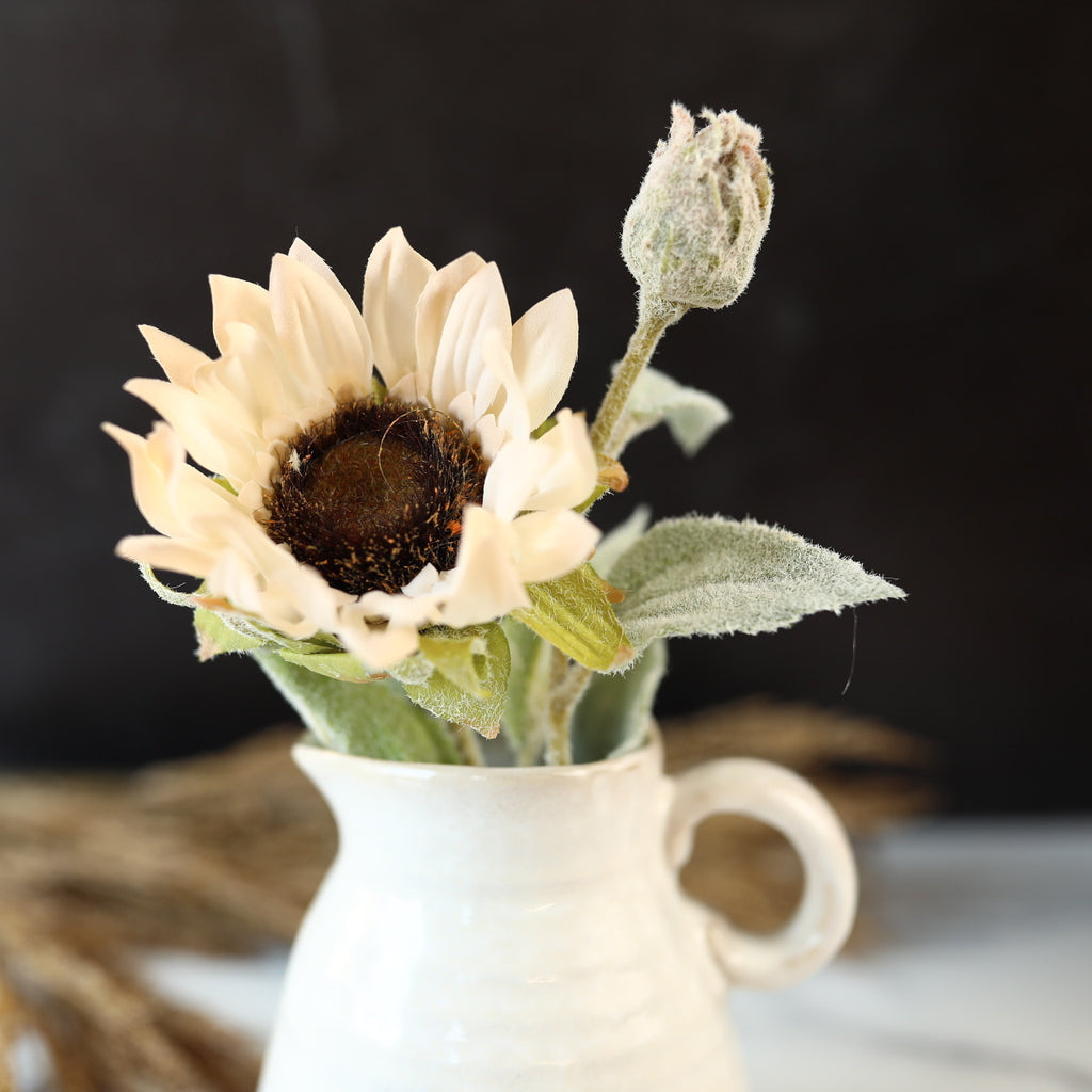 White Sunflower Stem