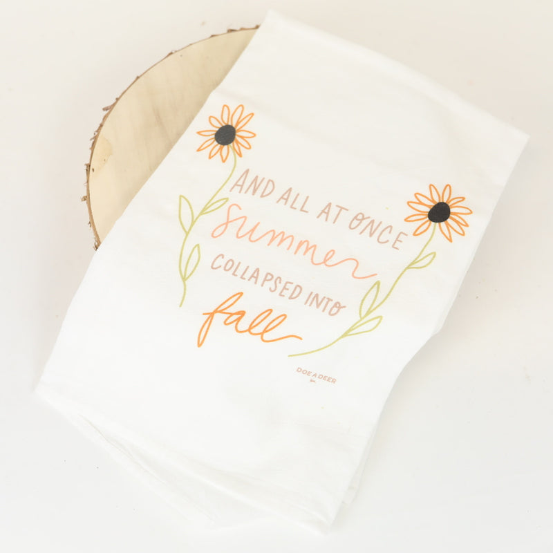 Flour Sack Towel - Summer to Fall