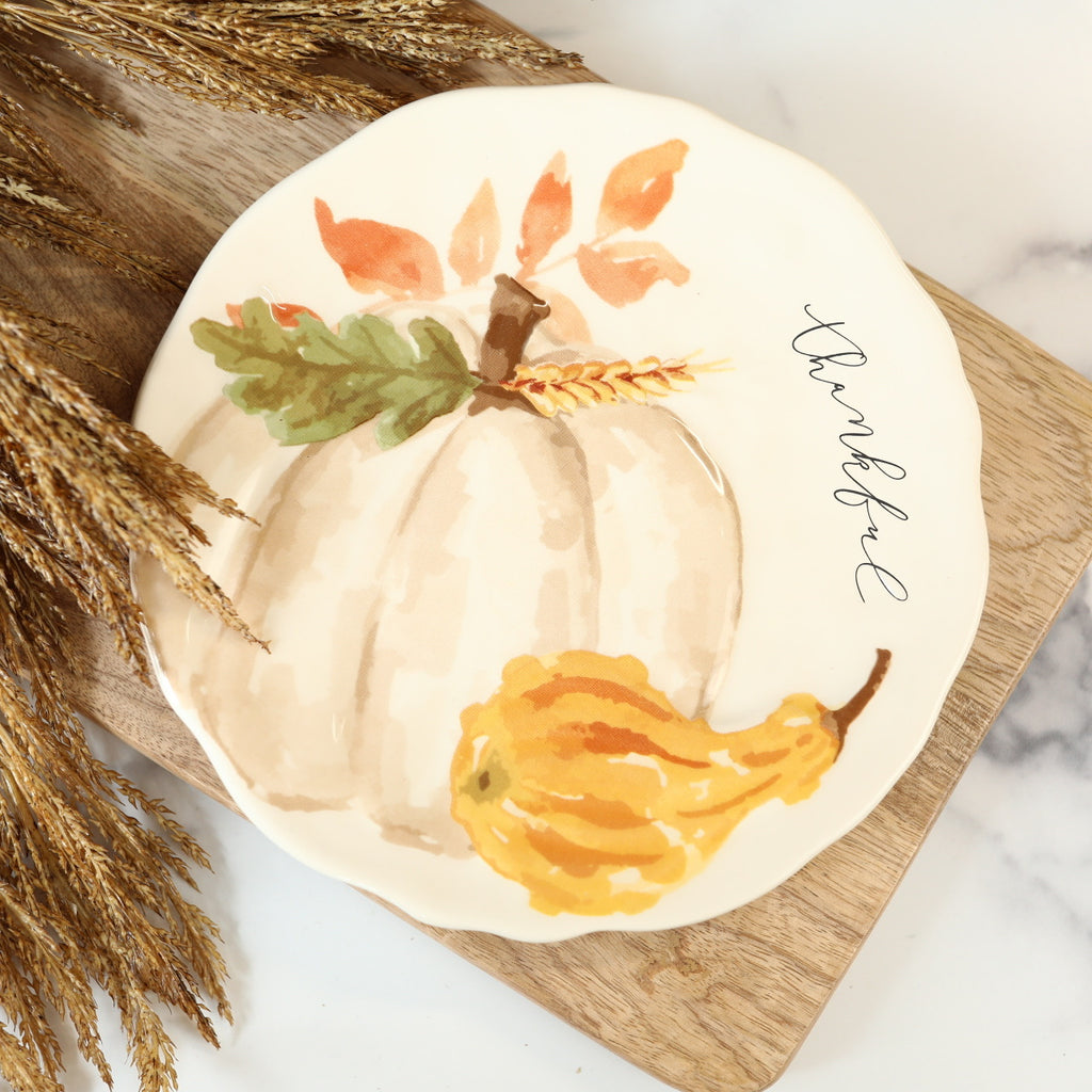 Salad Plate - Thankful Pumpkin
